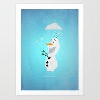 Olaf (Frozen) Art Print