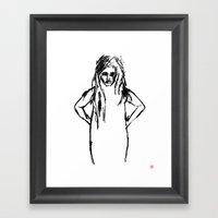 Girls That Lie No.1 Framed Art Print