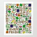 Farmer's Market Medley Art Print