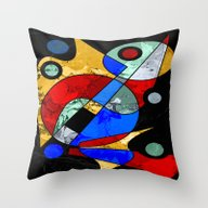 Abstract #103 Throw Pillow