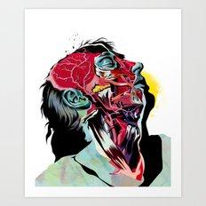 Anatomy Quain  Art Print