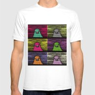 Slime (Pixel) Mens Fitted Tee White SMALL