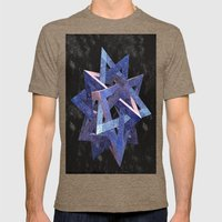 Pyramid Puzzle Mens Fitted Tee Tri-Coffee SMALL