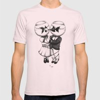 So near So far Mens Fitted Tee Light Pink SMALL