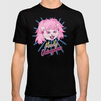 Mewly Outrageous Mens Fitted Tee Black SMALL