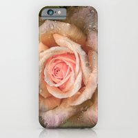 iPhone & iPod Case featuring Vintage rose with water drops by LudaNayvelt