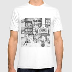 Baking Cats Mens Fitted Tee SMALL White