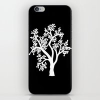 Solo Tree White On Black iPhone & iPod Skin