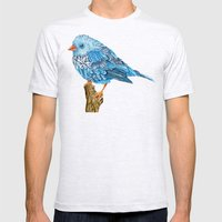 Flowerly Serene Sophia Mens Fitted Tee Ash Grey SMALL