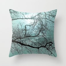 ABSTRACT-Blue Danube Throw Pillow