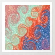 Stormy Wavy Night Art Print