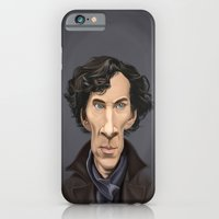 iPhone Cases featuring Celebrity Sunday ~ Benedict Cumberbatch by Rob Snow
