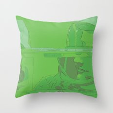Green Armstrong Throw Pillow