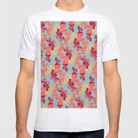 Floral Pattern Mens Fitted Tee Ash Grey SMALL