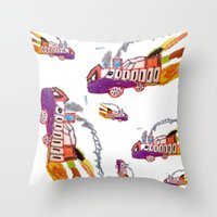 Childhood drawing Throw Pillow