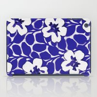 Painted Floral (Blue) iPad Case