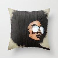 Venus Afro 02 Throw Pillow