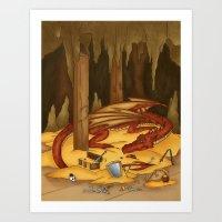 Smaug, The Last Dragon Art Print