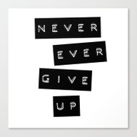 Never Give Up II Canvas Print