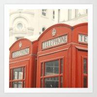 Telephone - London Photo… Art Print