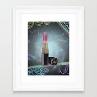 Cosmic Chanel Lipstick Framed Art Print