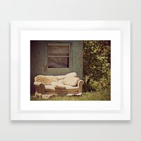 The Window Seat Framed Art Print