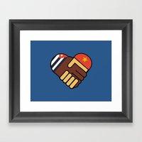 Hands Of Friendship Framed Art Print