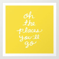 The Places You'll Go Art Print