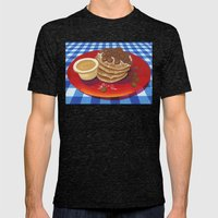 Pancakes Week 4 Mens Fitted Tee Tri-Black SMALL