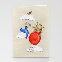 Bouncy Kitteh! Stationery Cards