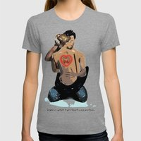 Love is when two hearts are united... Womens Fitted Tee Tri-Grey SMALL