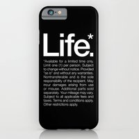 quote iPhone & iPod Cases featuring Life.* Available for a limited time only. by WORDS BRAND™