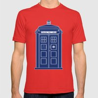 TARDIS Blueprint - Docto… Mens Fitted Tee Red SMALL