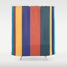 Color Band 70's - B - Stripe Shower Curtain