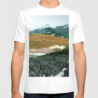 Experiment Am Berg 21 Mens Fitted Tee White SMALL