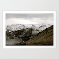 Powder Sugar Mountains Art Print