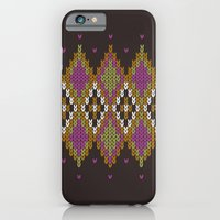 iPhone Cases featuring Argyle Dream by Rachel Caldwell
