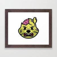 Zombie Winnie Framed Art Print
