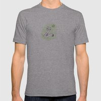 Cat & the moon Mens Fitted Tee Athletic Grey SMALL