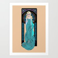 The Ice Queen Art Print