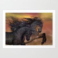 HORSES - On Sugar Mounta… Art Print