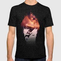 Ziggy Mens Fitted Tee Tri-Black SMALL