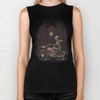 Death Rides in the Night Biker Tank
