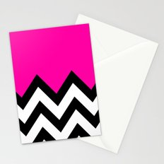 PINK COLORBLOCK CHEVRON Stationery Cards