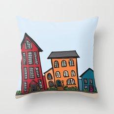 TownHouses Throw Pillow