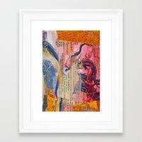 Collage Love - Zhong Long Framed Art Print