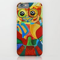 iPhone & iPod Case featuring Rainbow Owl by Hazeart