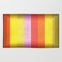Warm Color Stripes Rug