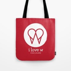 I Love W Tote Bag