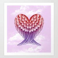 Heart Wings [Pink Version] Art Print